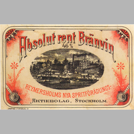 Absolut rent Brännvin 1879.